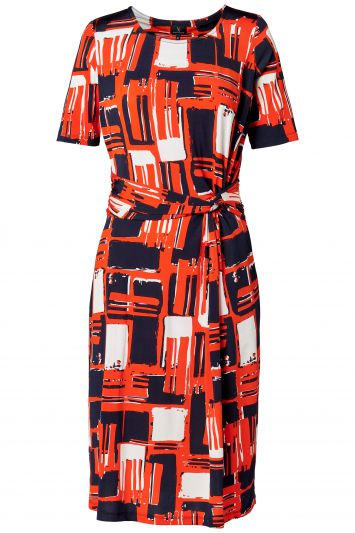 Mart Visser Yori Print Jurk Orange - Navy - White.jpg