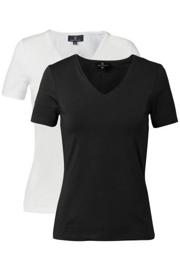 Mart Visser Basic T-shirts 2 Pack Wit/Zwart