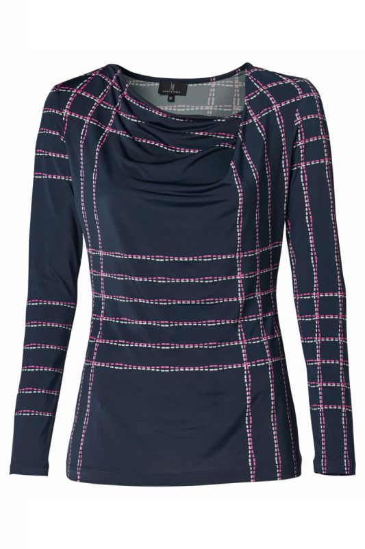 Mart Visser Berry Print Top Navy/Pink