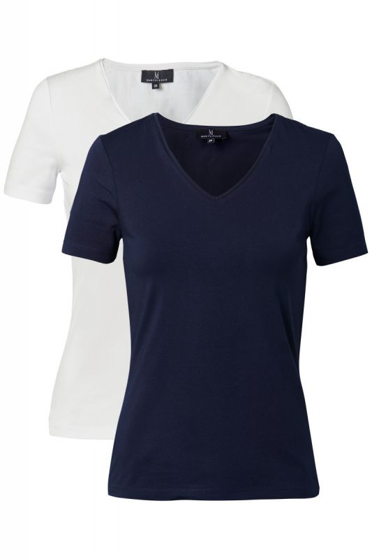 Mart Visser Basic T-shirt 2 Pack Wit/Navy