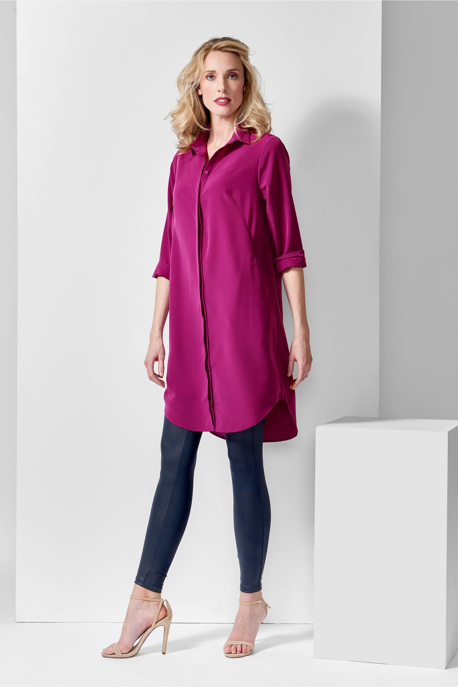 Mart Visser  warren blouse jurk cyclaam